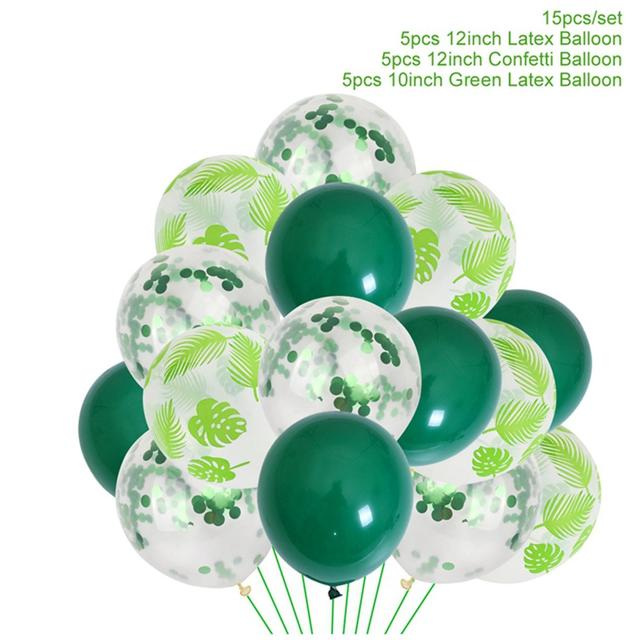 Jungle Party Tropic Party Decor Balloon Decorations Wedding Decor Multicoloured And Palm Print Party Balloon Chandelier Party Balloons