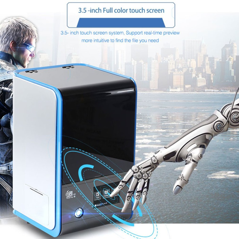 DE New 3D Printer LD 001 3 5 Inch Color Touch Screen Light Curing 3D Printer