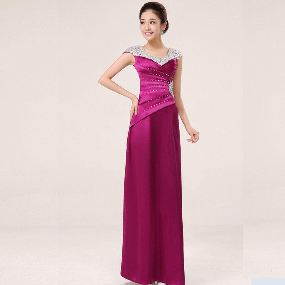 Просвет элегантные длинные вечерние платья с коротким рукавом Бисер фиолетовый Платья для вечеринок большие Размеры индивидуальный заказ ...