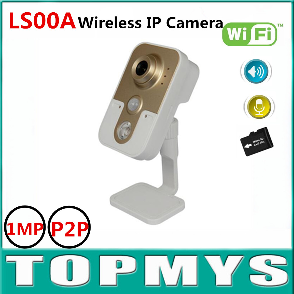 Wireless IP camera LS00A 1.0MP 720P HD Mini Camera P2P wifi Triple Stream camera built-in TF slot IR night vision Baby monitor howell wireless security hd 960p wifi ip camera p2p pan tilt motion detection video baby monitor 2 way audio and ir night vision