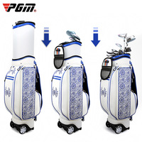 PGM PGM Golf Cart Bag Standard Ball Package Blue and White Porcelain Embroidery Flexible Golf Airbag D0739