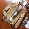 2016 Nuevos hombres de la Marca Casual Chaqueta de Alta Calidad Sólida Chaqueta de Algodón Hombres de la Moda Chaquetas y Abrigos Para Hombres de la Marca ropa
