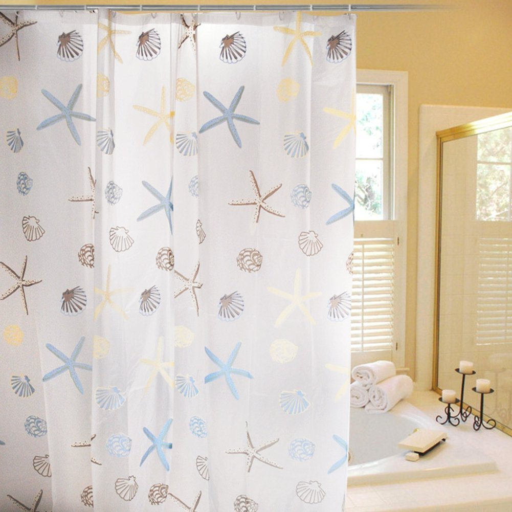 WARM TOUR Beautiful Shower Curtain Waterproof Polyester Bath Curtain ...