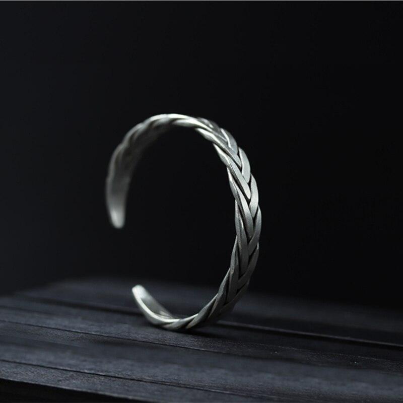 Тайские серебряные старинные серебро браслет S925 Тканые обувь для мужчин и женщин браслет ручной работы