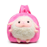 children Plush Backpacks Cartoon Kids School Bags Toys Pink Cute Animal sheep Kindergarten backpacks for children Storage Doll