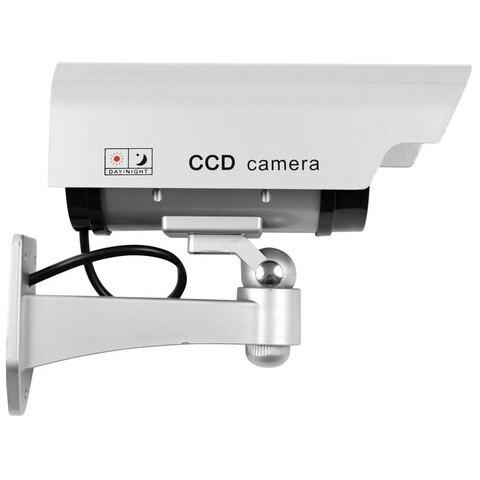 Fake Dummy Camera Waterproof Outdoor Fake Camera Battery Powered Flicker Blink LED Security Bullet CCTV Camera Lahore