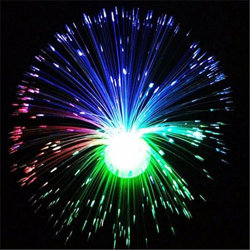 Multicolor Fiber Optic Lamp Light Holiday Wedding Centerpiece Fiberoptic LED Nattlampa Nyhet Romantiska gåvor P15