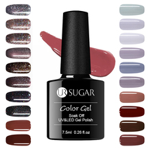 UR SUGAR 7.5ml Holographic Shining Glitter Dark Brown Sequins Nail Art Soak off UV LED Gel Nail Lacquer Manicure