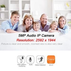 Image 3 - JIENUO 5MP Mini Ip Kamera Poe Ses Mikro Cctv Güvenlik Video Gözetim IPCam Kapalı Ev Onvif Küçük CCTV HD Ağ xmeye