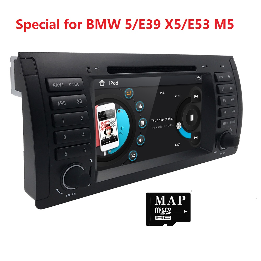 Aliexpress com buy car dvd player for bmw e39 e53 x5 autoradio navigation with bluetooth ipod rds rearview swc stereo headunit free 8g card from reliable