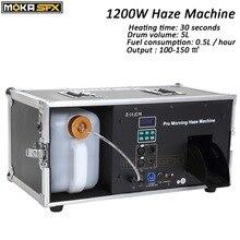 Máquina de fumaça líquida 5l 1200w, máquina de fumaça da manhã pro, máquina do fumaça dmx 512 para barra de palco equipamentos de discoteca dj