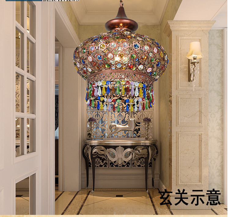 Free Shipping D330mm K9 Crystal Tiffany pendant lamp Crystal pendant lighting lamp for home living room