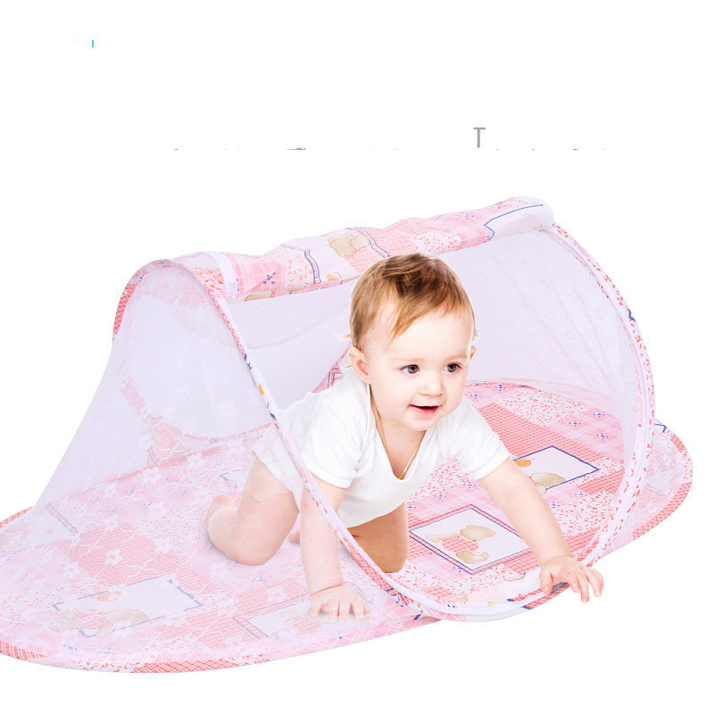 Fold Mosquito Net Baby Mosquito Net Baby Special-purpose Cartoon High Quality Ship Type Mosquito Net Zipper Mosquito Net