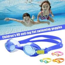 419cda2b8 Crianças Crianças Óculos de Natação Óculos HD Impermeável Anti-fog de  Silicone Quadro ...