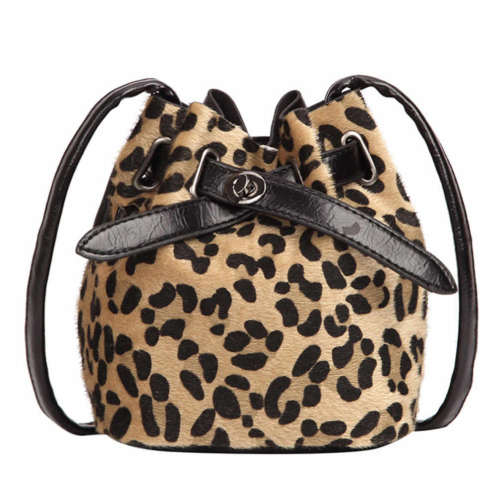 8eb742f0871 Vintage Fashion Women Plush Leopard Print Shoulder Bag High Quality Velvet  Messenger Cross Body Bag Female