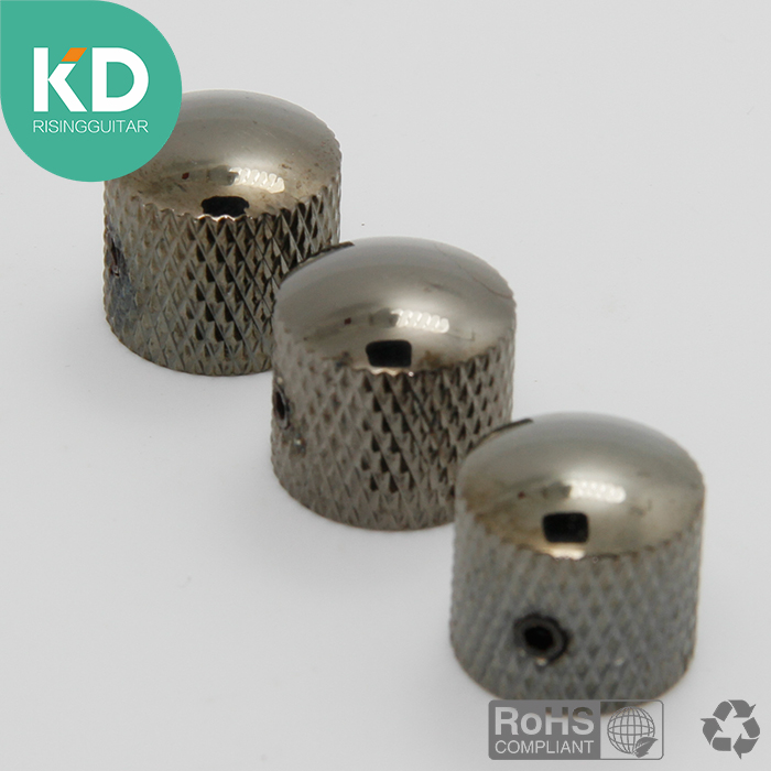 3 PC Guitar and Bass metal knob volume knobs tone knob guitar replacement speed control with dome