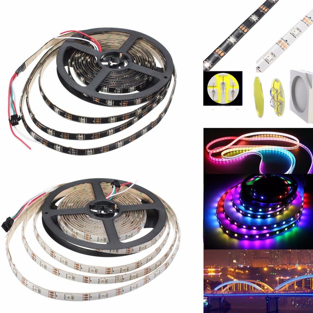 RGB LED Flexible Strip Light 5M 45W 150SMD WS2812B Waterproof IP65 Fairy Christmas Trees Party home lighting