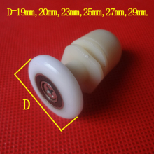 Shower Door Rollers Runners/Wheels/ Pulleys Daimeter 19mm/20mm/23mm/25mm/27mm/29mm with Eccentric shaft,8pcs/lot
