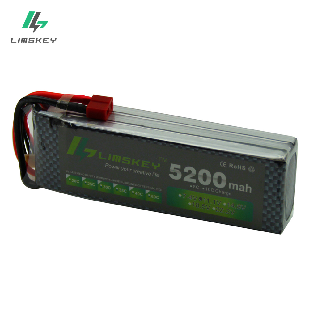 цена на Limskey Power 3S LiPo Battery 11.1V 5200MAH 30C to 35C AKKU 11.1 v Battery For Helicopter Boat 3S Lipo free shipping #145mm