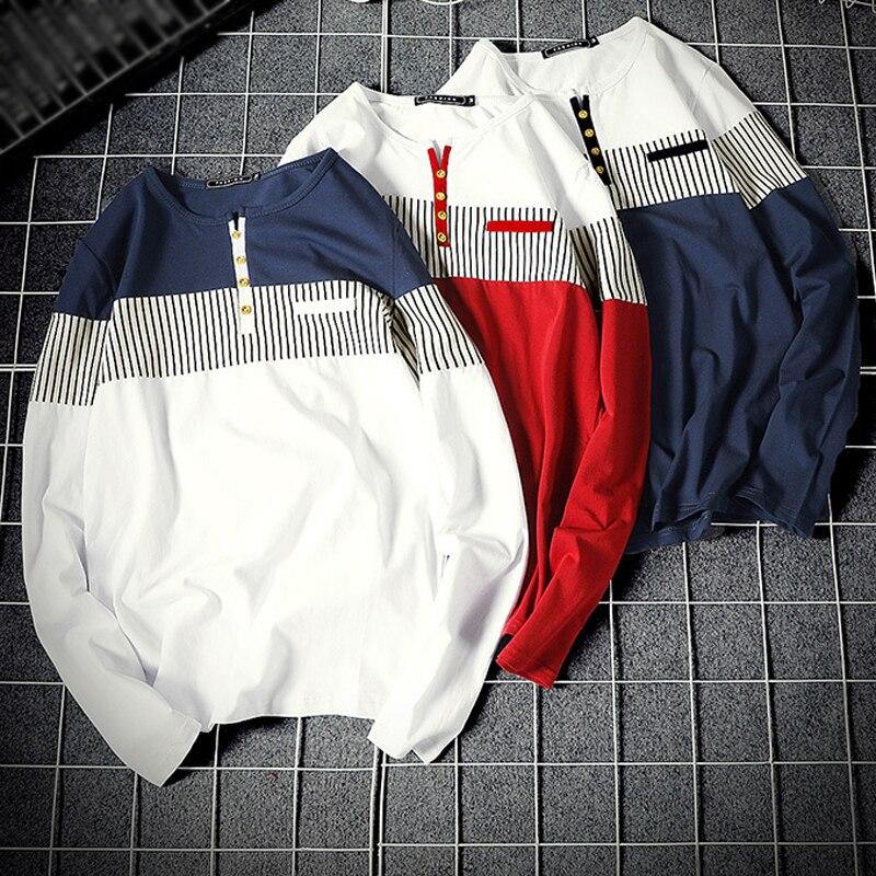 Liseaven   T  -  Shirts   Men Long Sleeve Tshirt Mens   T     Shirt   Plus Size 5XL Men's Cotton Full Sleeve Tops&Tees Male Cothing