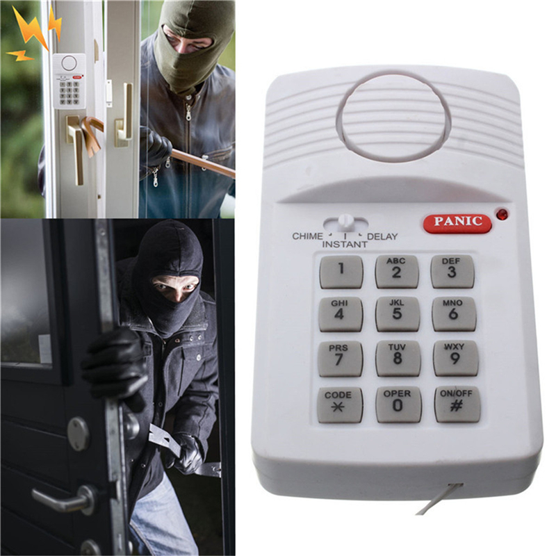 Ambitious Best Sales High Quality Security Keypad Door Alarm System With Panic Button For Home Shed Garage Caravan And To Have A Long Life. Sensor & Detector
