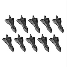 10 Pcs Black Vortex Generator 3D Shark Fin Jet Rear Roof Wing Spoiler Diffuser Style Increases Down Force Universal