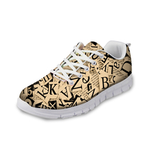 NOISYDESIGNS flat Women Sneakers Fashion 3D Letter Pattern Casual Shoes Spring Comfortable Flat for Lady 2018