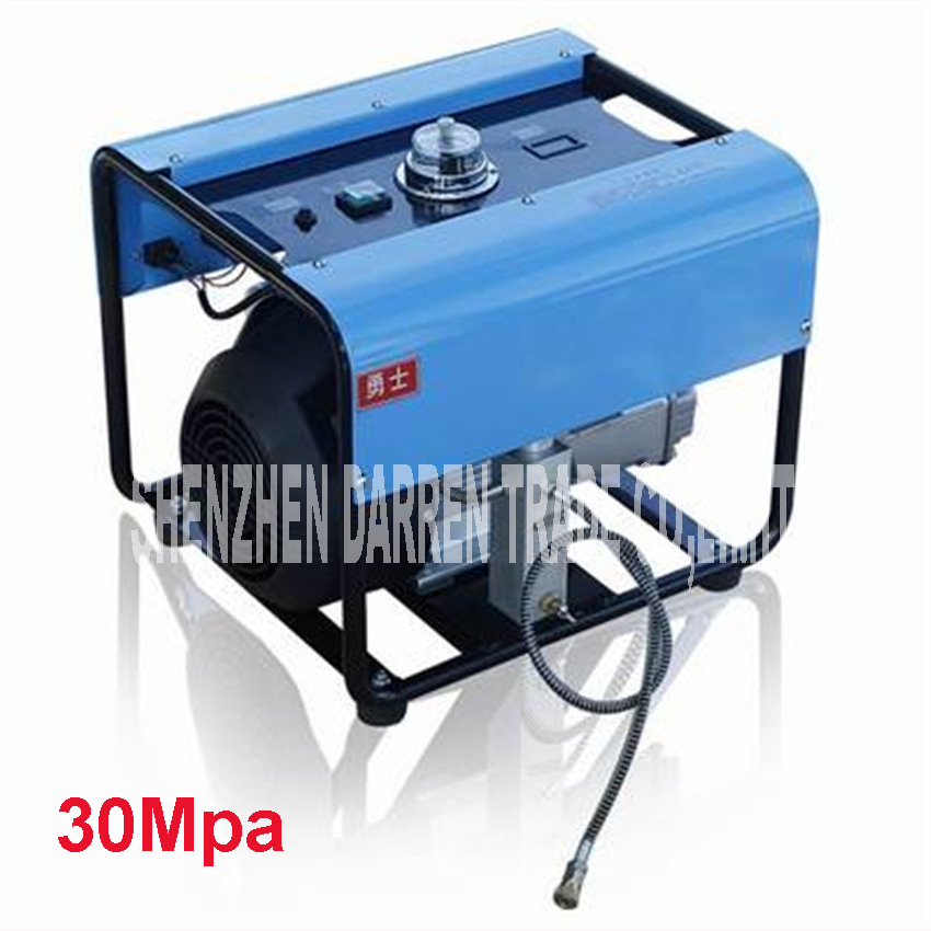 30MPa  High Pressure Pump Electric Air Compressor Air D'auto stop inflator 220 V 2.2KW stainless steel  electric inflator portable 300psl electric car auto bike air compressor tire inflator pump 12v