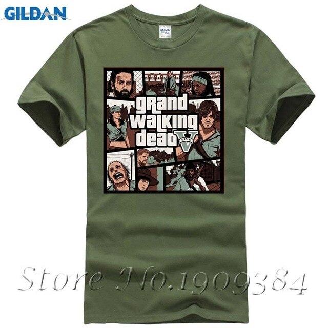 Geek Manches Courtes Coton Grand Walking Dead Hommes t-shirt Mâle Vêtements  Pas Cher Vente f9d7c3f2608b