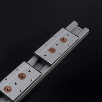 2 PCS white built in double linear guide slider sliding table SGR35 2500mm +1 PC SGB35 4 wheel carriage