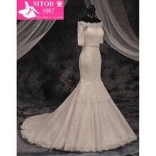 Robe De Mariage Fashionable Boat Neck Off the Shoulder Mermaid Wedding Dresses Lace Wedding Dress Vestido De Noiva MTOB1755