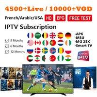 World IPTV Subscription HD France Arabic UK Spain German Portugal USA Adult 4500+ Live 8000+ VOD Smart TV Android APK IPTV M3U