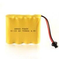 Pacote 1 Anmas Poder 4.8 v 700 mah Bateria Recarregável AA Ni-Cd SM 2Pin Plugue Carro Do Brinquedo DO RC baterias de Nicd