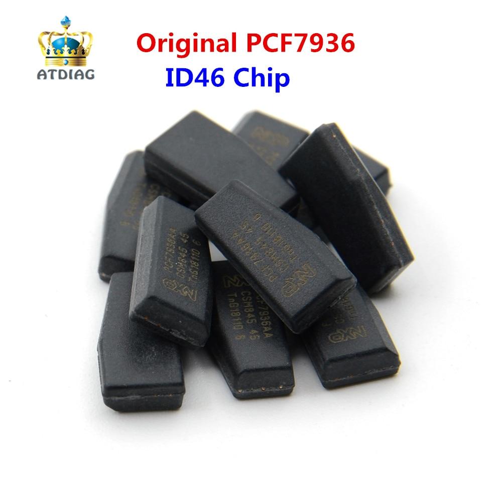Keydiy 10pcs/lot ORIGINAL PCF7936AS SOT385 Auto Key Transponder Chip ID46 Chip PCF7936 PCF7936AA Locksmith Tool Pcf 7936