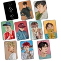 Kpop EXO EX 'ACT Lucky one style transparent crysta sticker with 10 pieces Lay Sehun Baekhyun Chanyeol Do Suho
