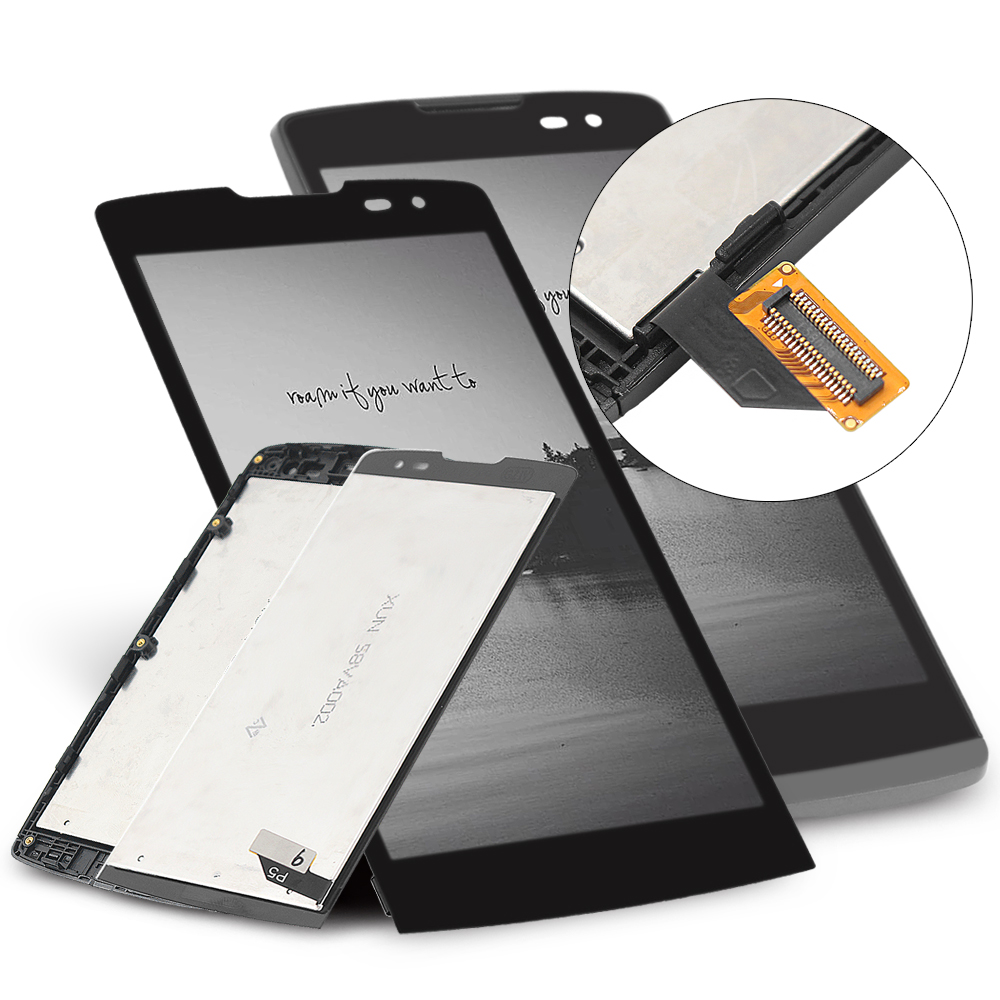 Original 4.5 LCD for LG Leon H340 LCD Replacment Screen for H326 H320 H324 LCD Display Touch Screen Digitizer Assembly