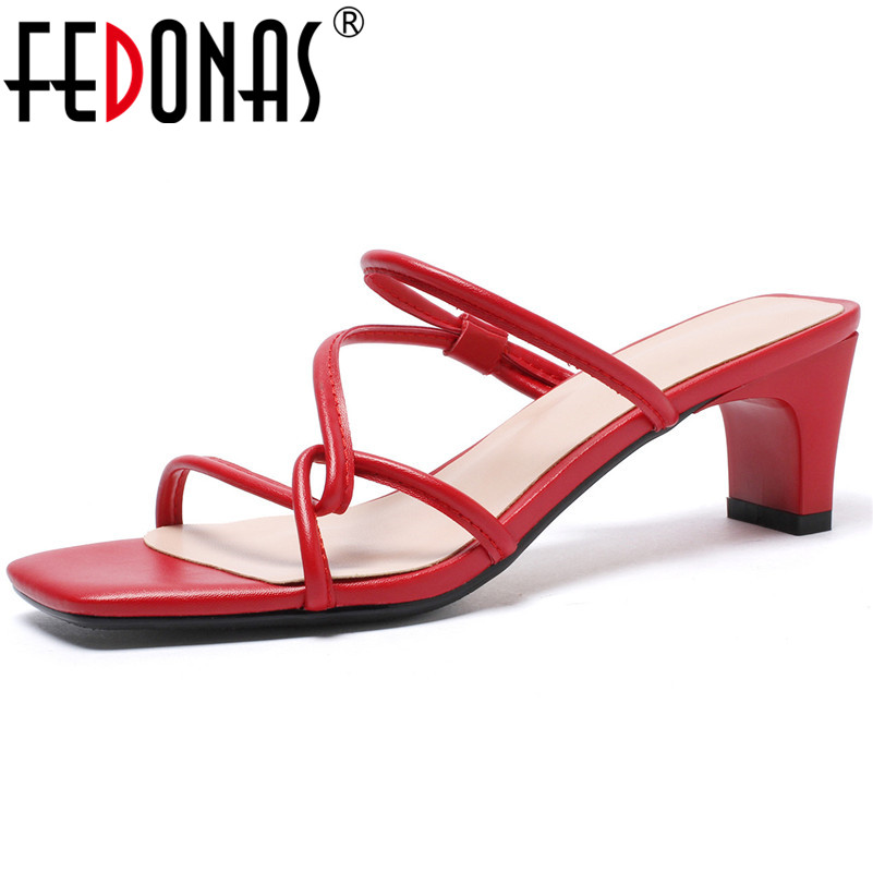 FEDONAS Prom Party Summer Elegant Sandals Women New Classic Basic High Heels Solid Color Concise Summer