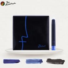 Лучшие Pimio Оригинал Пикассо серии чернил cartrdges пополнения чернил черный 3 мл 5.2 см цвет синий, черный; Большие размеры 34–43