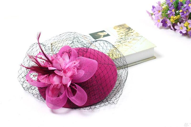 Купить с кэшбэком Elegant Wedding Hats and Fascinators Woman Wedding Hats for Brides Flowers Ladies Hats headdress