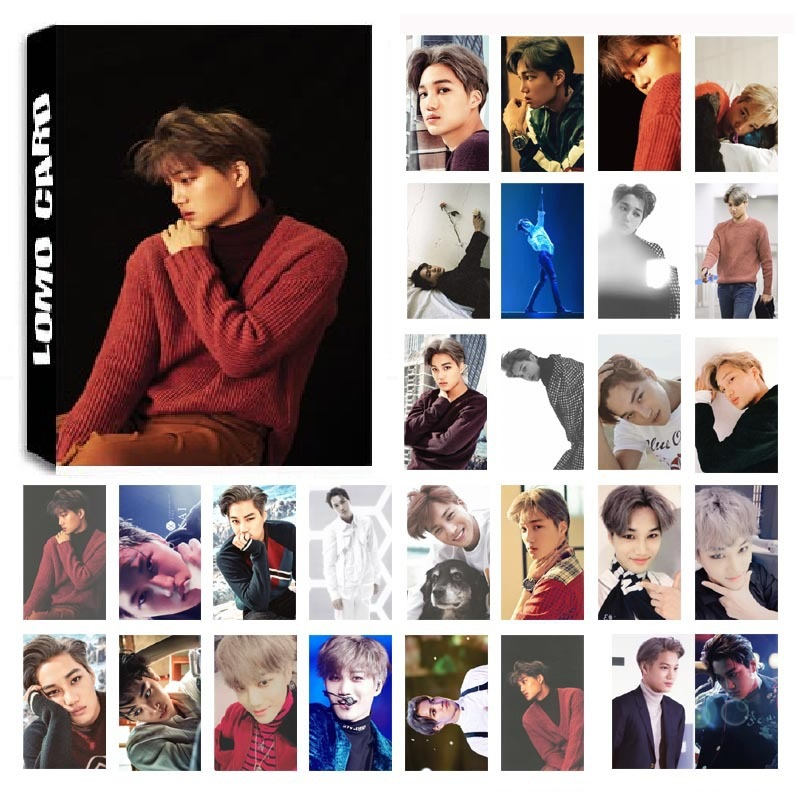 New 30Pcs/set KPOP EXO KAI Single 02 FOR LIFE Album HD Photo Card PVC Self Made LOMO Photocard