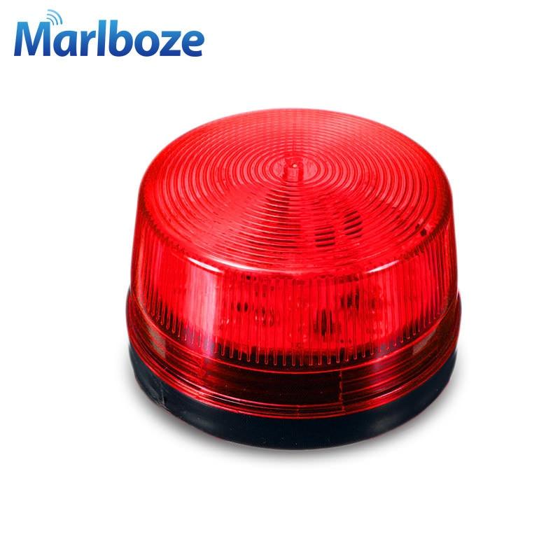 DC12V красный мини проводной Строб Сирена предупреждающий сигнал свет вспышки Siren светодиодные лампы выделите лампа аварийной сигнализации для дома Охранной Сигнализации Системы