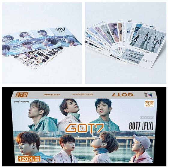 Kpop Latest Official GOT7 Set 121 Zhang Same Section   Album  Lyrics K-pop Got7 Gift Souvenir Sticker Concert