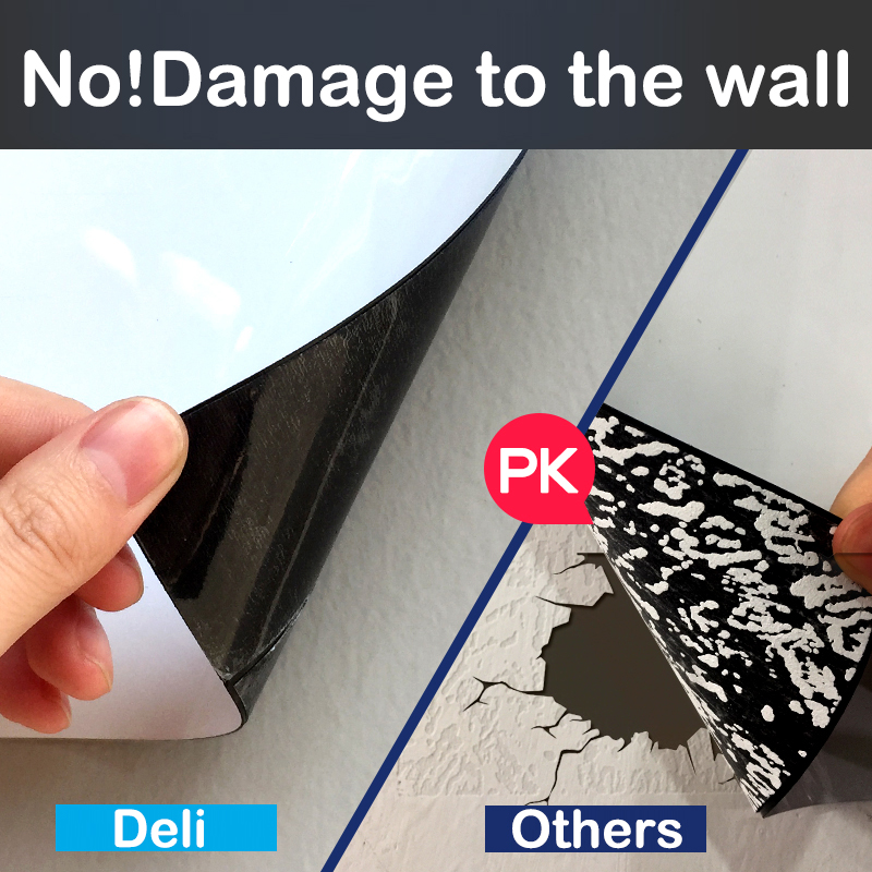 Deli Magnetic Whiteboard Soft Iron Wall Sticker Office Message Erasable Whiteboard Paper Painting Whiteboard Sticker Free Cut 5