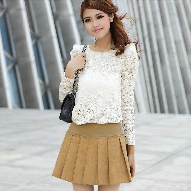 2013 all-match spring and summer mini bust skirt cake slim hip basic pleated short skirt