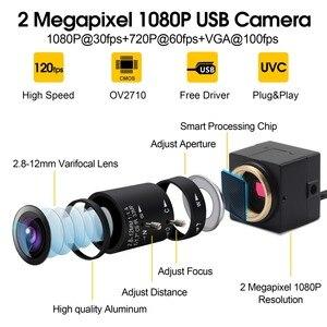 Image 2 - CCTV 2.8 12mm Varifocal Lens Full Hd 1080P CMOS OV2710 30fps/60fps/120fps Industrial Usb Camera UVC for Android ,Linux, Windows