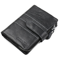 2017 New Design Purse Male Wallet Men Wallet Genuine Leather Purse Cow Leather Wallet Men Hasp