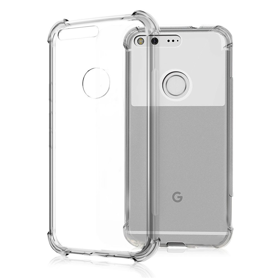 For Google Pixel 1 2 3 XL Air Cushion Case Clear Crystal Soft Silicone Silicon TPU Shockproof Full Protection Phone Cover Capa