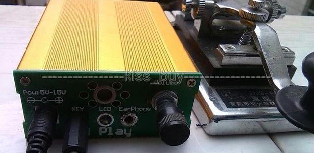 CW Entrenador BG5MVE Mano Clave Oscilador de Onda de Seno Generador de Señal de Audio Amplificador