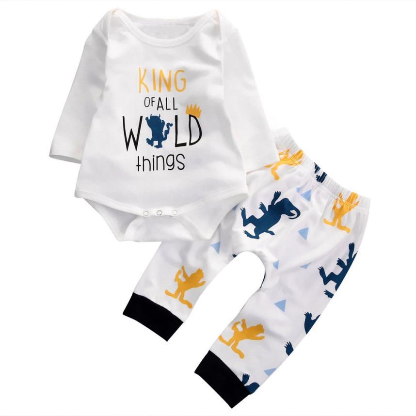 2 pezzi 2017 autunno vestiti della ragazza del neonato manica lunga - Abbigliamento per neonato