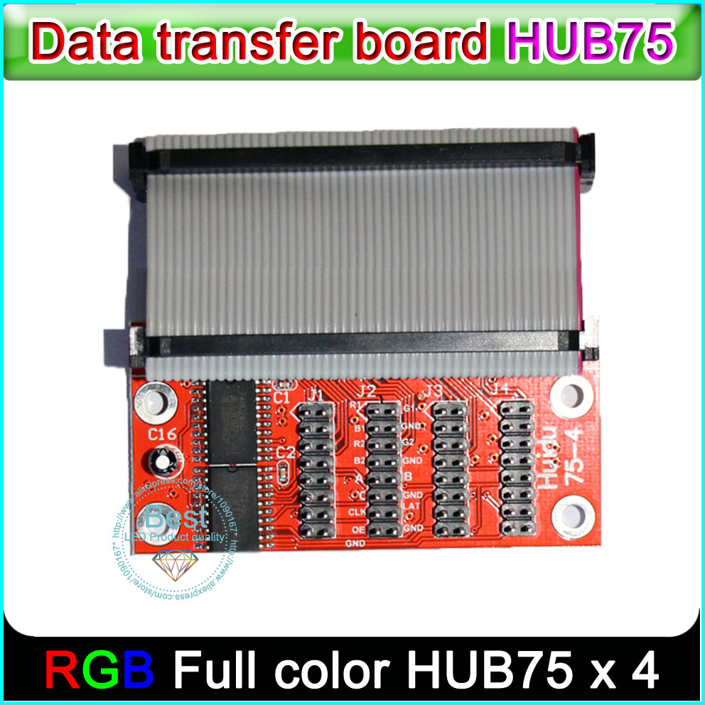 HUB75 Board , Outdoor/indoor Full-color LED Display Control Card Data Transfer Board, P3 P4 P5 P6 P8 P10 Led Module Hub75 Port
